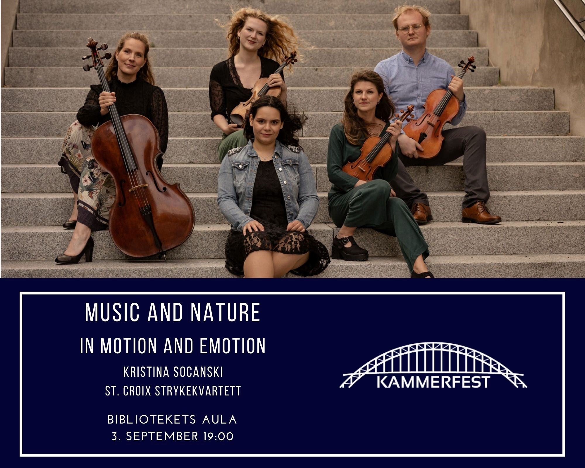 Music and nature, in motion and emotion